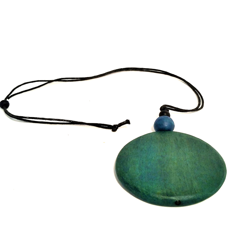 Green and blue beads necklace